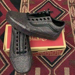Vans Glitter Old Skool Skateboarding Shoes